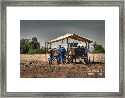 Chow Line Prep Framed Print by Fred Lassmann