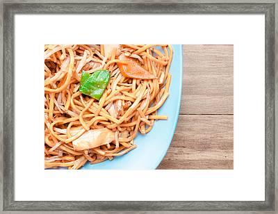 Chow Mein Framed Print by Tom Gowanlock