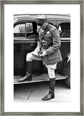 Chp Writes A Ticket Framed Print by Underwood Archives