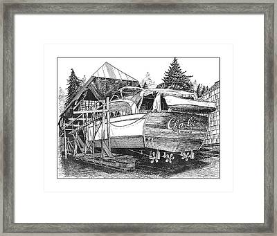 53 Foot Chris Craft Annual Haul Out Framed Print by Jack Pumphrey