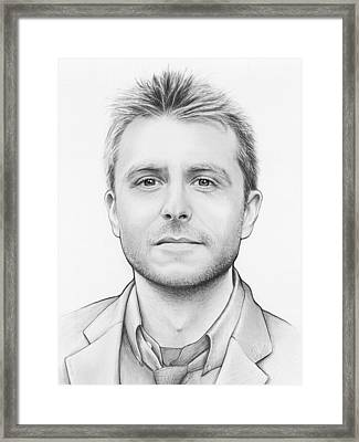 Chris Hardwick Framed Print by Olga Shvartsur