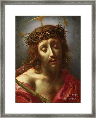 Christ As The Man Of Sorrows Framed Print by Carlo Dolci