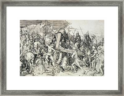 Christ Bearing His Cross Framed Print by Martin Schongauer