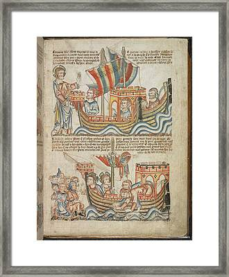 Christ Calling The Apostles Framed Print by British Library