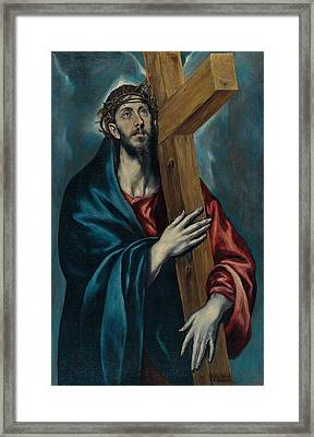 Christ Carrying The Cross Framed Print by Celestial Images