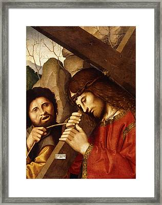 Christ Carrying The Cross Framed Print by Marco Palmezzano
