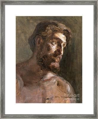 Christ Framed Print by Gail Schulman