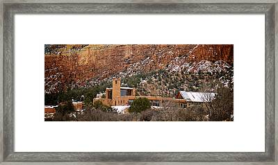 Christ In The Desert Monastery Framed Print by Mary Lee Dereske