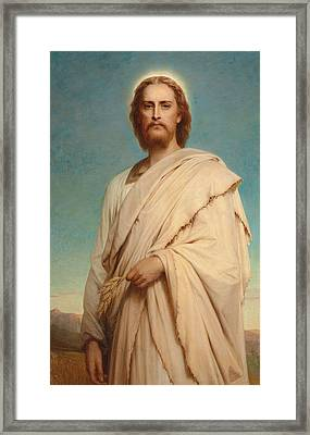 Christ Of The Cornfield Framed Print by Thomas-Francis Dicksee