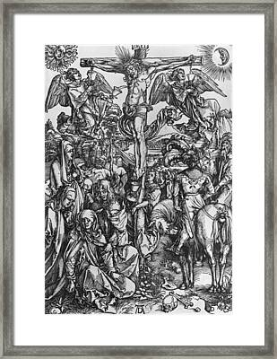 Christ On The Cross Framed Print by Albrecht Durer or Duerer