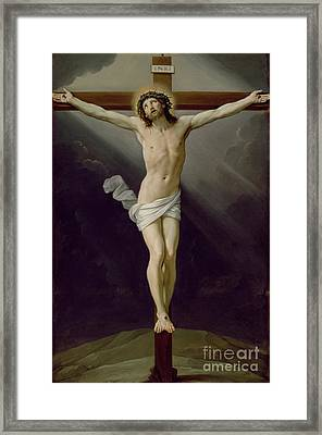 Christ On The Cross Framed Print by Guido Reni
