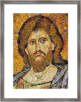 Christ Pantocrator From Monreale Framed Print by Dragica  Micki Fortuna