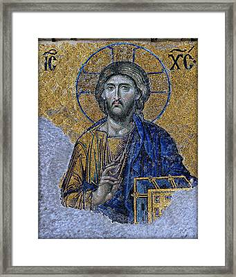 Christ Pantocrator -- Hagia Sophia Framed Print by Stephen Stookey