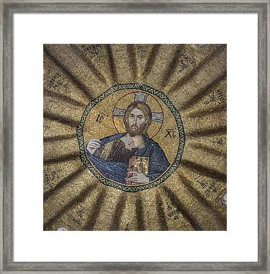 Christ Pantocrator Surrounded By The Prophets Of The Old Testament 1 Framed Print by Ayhan Altun