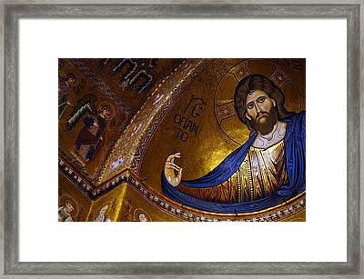 Christ Pantocrator  Framed Print by Valentina  De Santis