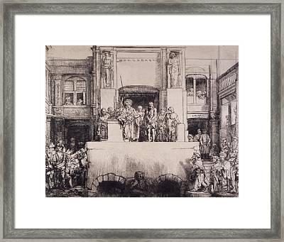Christ Presented To The People, 1655 Framed Print by Rembrandt Harmensz. van Rijn