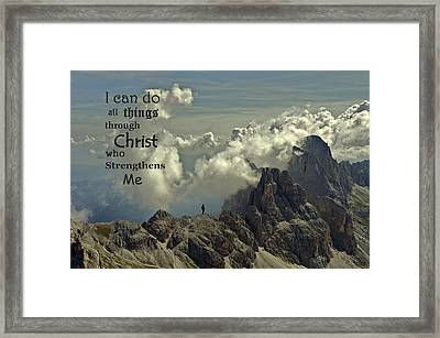 Christ Strengthens Me Framed Print by Movie Poster Prints