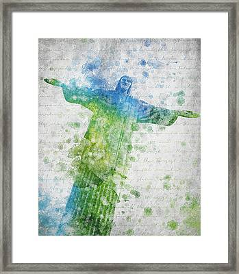 Christ The Redeemer  Framed Print by Aged Pixel