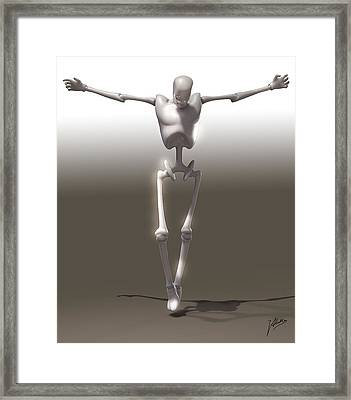 Christ Mechanical Framed Print by Quim Abella