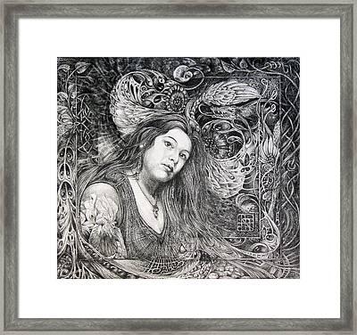 Christan Portrait Framed Print by Otto Rapp
