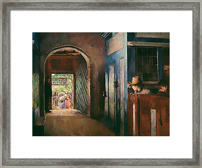Christening In Tanum Church Framed Print by Mountain Dreams