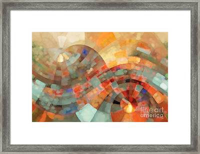 Christian Art- My Refuge Deuteronomy 33 27  Framed Print by Mark Lawrence