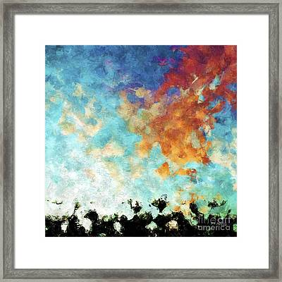 Christian Art- Shout With Joy. Psalm 100 1 Framed Print by Mark Lawrence