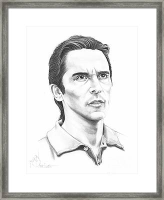 Christian Bale Framed Print by Murphy Elliott