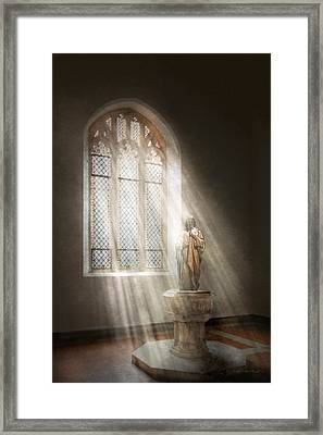 Christian - Heavenly Father Framed Print by Mike Savad