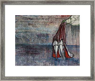 Christian Louboutin Framed Print by Victoria Dietz