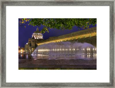 Christian Science Center Fountain - Boston Framed Print by Joann Vitali