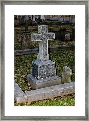 Christian Tombstone Framed Print by Robert Hebert