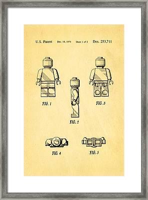 Christiansen Lego Figure 2 Patent Art 1979 Framed Print by Ian Monk