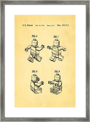 Christiansen Lego Figure 3 Patent Art 1979 Framed Print by Ian Monk