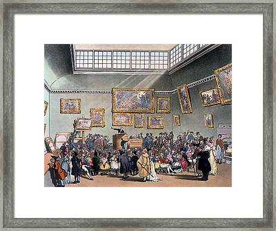 Christies Auction Room, Illustration Framed Print by T. & Pugin, A.C. Rowlandson
