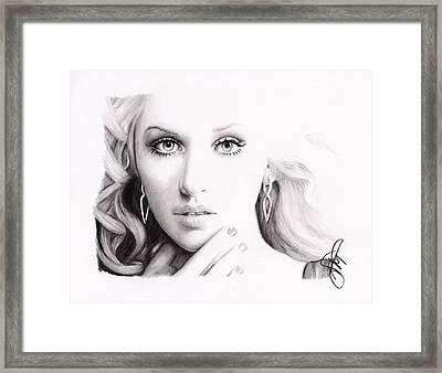 Christina Aguilera 2 Framed Print by Rosalinda Markle