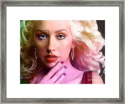 Christina Aguilera  Framed Print by Marvin Blaine