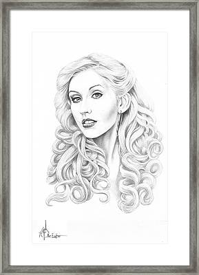 Christina Aguilera Framed Print by Murphy Elliott