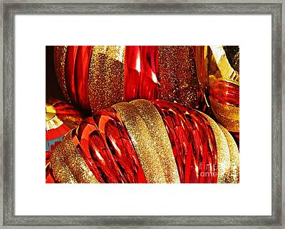 Christmas Abstact 17 Framed Print by Sarah Loft