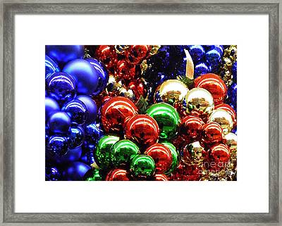 Christmas Abstract 15 Framed Print by Sarah Loft