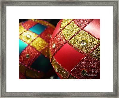 Christmas Abstract 18 Framed Print by Sarah Loft