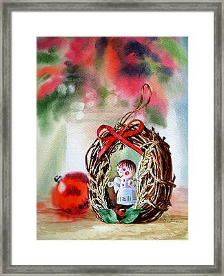 Christmas Angel Framed Print by Irina Sztukowski