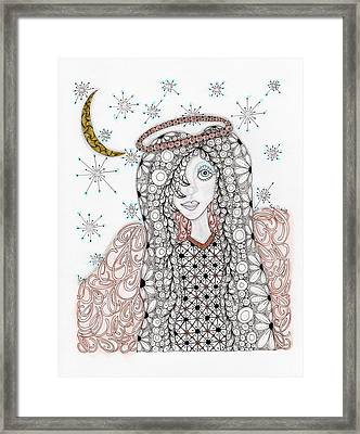 Christmas Angel Framed Print by Paula Dickerhoff