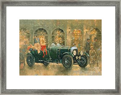 Christmas At Fortnum And Masons Framed Print by Peter Miller
