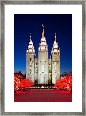 Christmas At Temple Square 17 Framed Print by Alan Nix