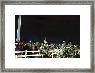 Christmas At The Ellipse - Washington Dc - 01135 Framed Print by DC Photographer