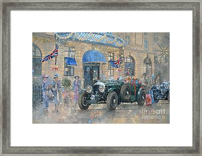Christmas At The Ritz Framed Print by Peter Miller