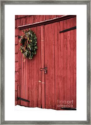Christmas Barn Framed Print by John Rizzuto