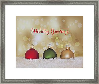 Christmas Baubles Framed Print by Kim Hojnacki
