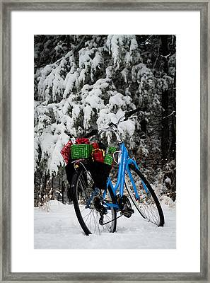 Christmas Bike Framed Print by Wayne Meyer